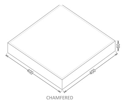 CHAMFERED type paving tiles