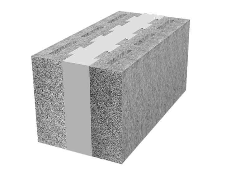 Thermal emcon for Insulated concrete masonry units