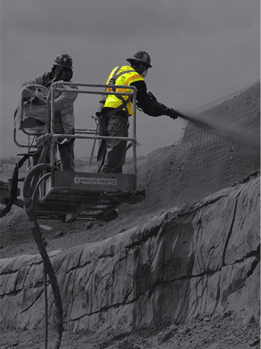 Shortcrete contracting service in UAE